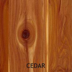 Cedar Plywood Example